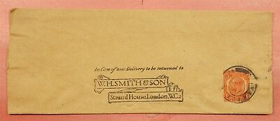 Great Britain Smith & Son Strand House Newspaper Wrapper Stationery To Egypt