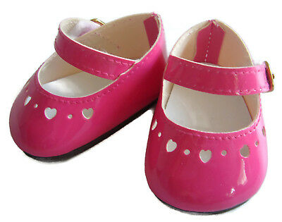 Bright Pink Patent Dress Shoes for Bitty Baby Doll Clothes Accessories