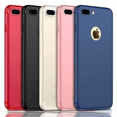 For Apple iPhone X 6 7 Plus Luxury Ultra Thin Slim Silicone TPU Soft Case Cover
