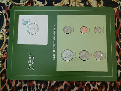 Coin Sets of All Nations United States w/card 1979 - 1989 50 Cent 1989 UNC