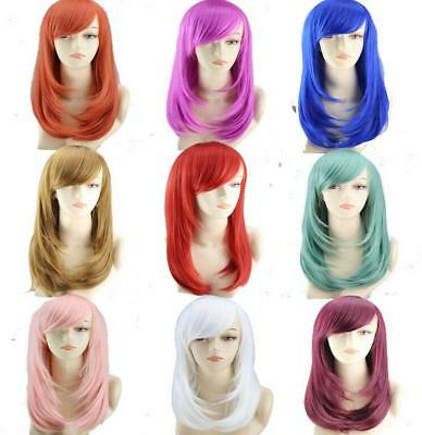 Synthetic Anime Wig Straight Hair Full Wig Medium Size for Cosplay Party
