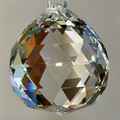 Attractive Crystal Ball Lamp Hanging Pendant Rainbow Chandelier Home Decor
