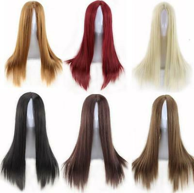 Straight Synthetic Anime Wig Cosplay Party Straight Hair Full Wig Stage Costume