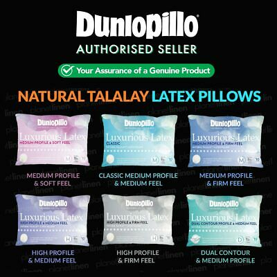 DUNLOPILLO Luxurious Talalay Latex Pillows Classic/Medium/High Up To 40% OFF RRP
