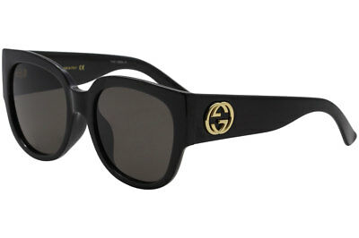 943e11e0db Gucci Women s Urban Collection GG0142SA 0142 SA 001 Black Square Sunglasses  55mm