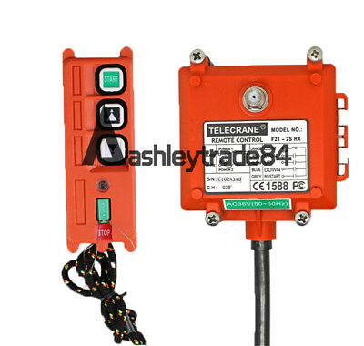F21-2S Wireless Hoist Crane remote control 1 Transmitter+1 Receiver AC36V