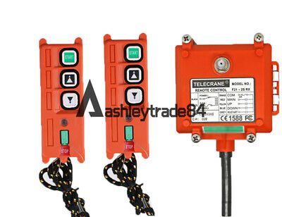 F21-2S Wireless Hoist Crane remote control 2 Transmitter+1 Receiver AC36V