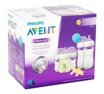 Philips Avent Natural Glass Baby Bottle Newborn Starter Set, BPA-Free