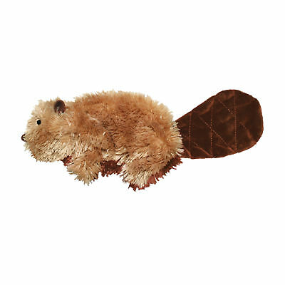 KONG Dr Noys Material BEAVER Dog Squeaker Toy No Messy Filling Small (NQ3)