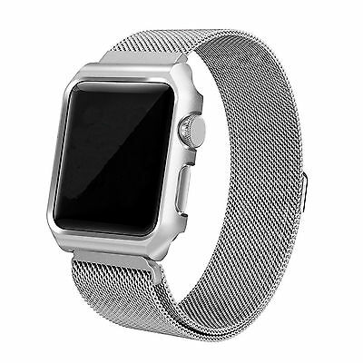 UK  Metal Magnetic Stainless Steel Wrist Band Strap For iWatch Apple Watch