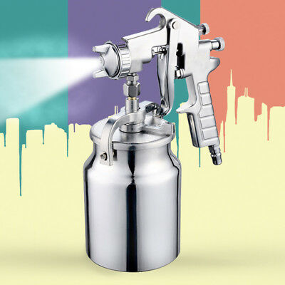 Heavy Duty Painting Spray Gun Nozzle 2/2.5/3mm Suction Feed Paint Air Sprayer