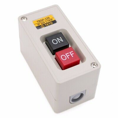 TBSP-330 3 Phase 3.7Kw 30A Power Push Button Switch Station ON/OFF Lock Tend
