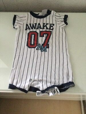 H&m Baby Boy Romper 6-9 Months New Without Tag Baseball/Theme/novelty