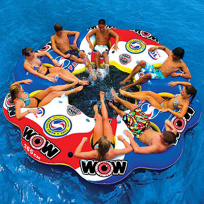 WOW Tube A Rama 10-Person Inflatable Floating Party Island.