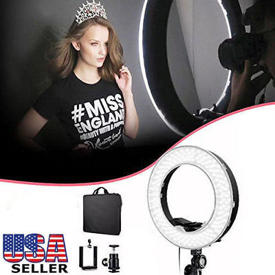 """19"""" SMD LED Ring Light 4800LM Dimmable+Filter Adapter+Bag Photo Video Tool Set"""
