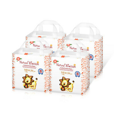 Natural Blossom Super Thin Band Diaper 4 Pack Baby Disposable Nappies Size Nappy