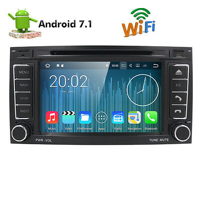 "VW Touareg 7"" Android 7.1 Car DVD GPS Navigation Radio DAB+ BT TPMS RAM 2GB 16GB"