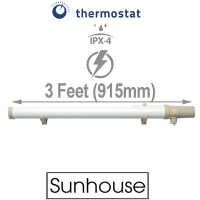Sunhouse 120W Low Energy Eco Tubular Heater 3ft Tube  Built In Thermostat Stat