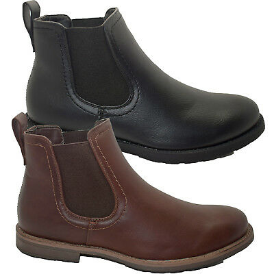 Mens Chelsea Boots Cushion Walk Dealer Ankle Smart Casual Pull On Shoe Size 7-11