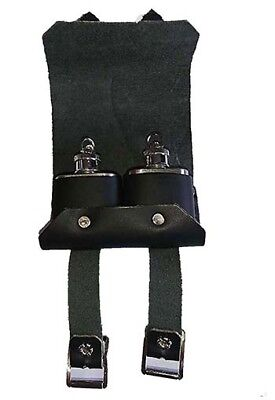 LARP-SCA-Medieval-Cosplay-Steampunk BLACK OR BROWN LEATHER DOUBLE TIPPLE POUCH