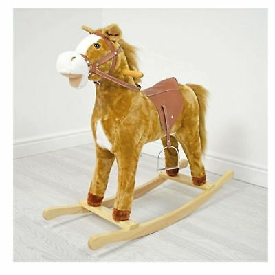 New 4Baby Large Activity Rocking Horse Buttermilk With Sounds From 3 Years