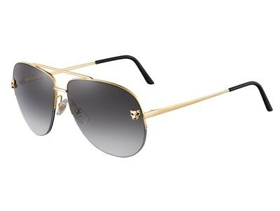 bd52d2e831 Panthere De Cartier Sunglasses Metal Smooth Golden Finish Gray Gradient  Esw00093