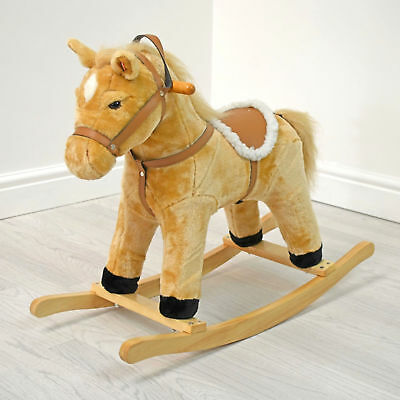 New 4Baby Medium Activity Rocking Horse Buttermilk With Sounds