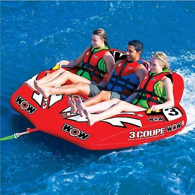 Wow Coupe Cockpit 3 Person Towable Ski Tube Inflatable Biscuit Boat Ride