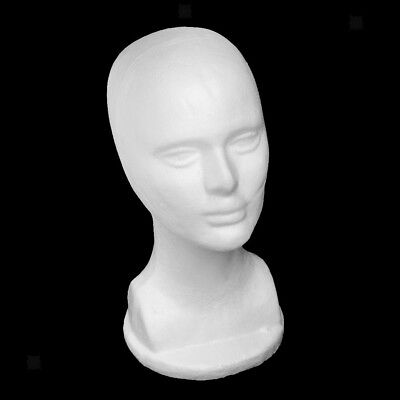 Male Polystyrene Styrofoam Model Head Mannequin Stand Wig Hair Hat Display
