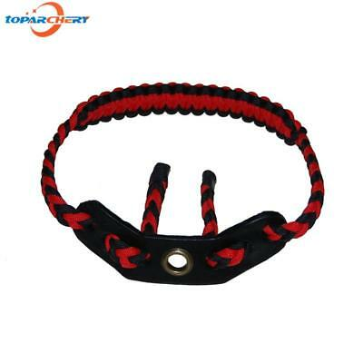 Archery Braided Nylon  Wrist Sling Strap for compound or recurve bow