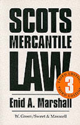 Marshall, Enid A., Mercantile Law, Very Good Book