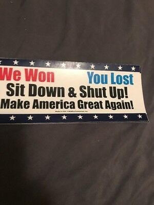 Trump We Won You Lost Make America Great Again  Sticker Usa