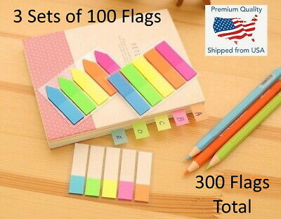 Rainbow Arrow Sticker Notes Bookmark Memo Flags Sticky Index - Choose Style