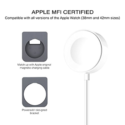 Poweradd Magnetic Charging Dock and Stand for Apple Watch, NEW