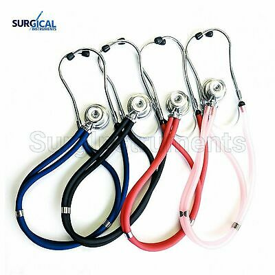 New Sprague Rappaport Dual Head Stethoscope US Seller 5 Interchangeable Pieces