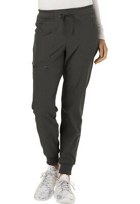 """Scrubs HeartSoul Women's """"The Jogger"""" Low Rise Tapered Leg Pant Pewter HS030"""