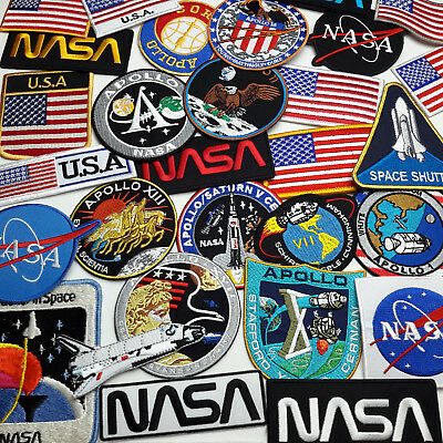 NASA Crew Mission Patches - Apollo / Shuttle Iron-On Patch Series - 30+ DESIGNS!