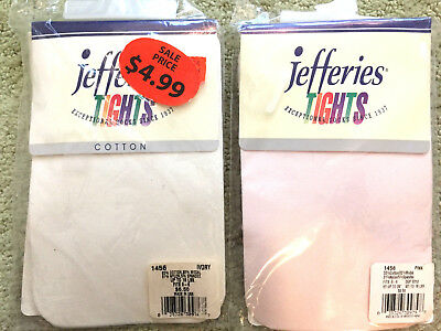 PICK 2 PAIRS - jefferies tights SIZE  0-6 months Cotton & Lycra Pink Ivory White
