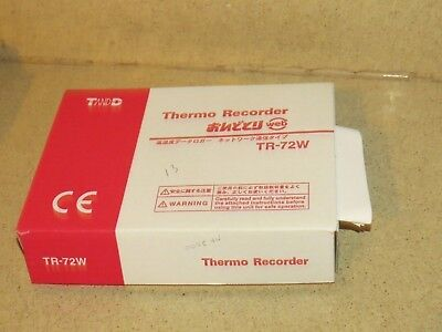 T AND D THERMO RECORDER MODEL TR-72W Ethernet Humidity/Temperature  (D4)