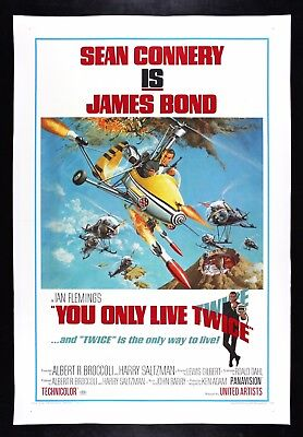 YOU ONLY LIVE TWICE ✯ CineMasterpieces ORIGINAL MOVIE POSTER 1967 JAMES BOND