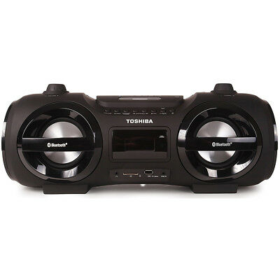 Toshiba Portable Bluetooth Boombox with CD Player & USB/SD Card Input in Black