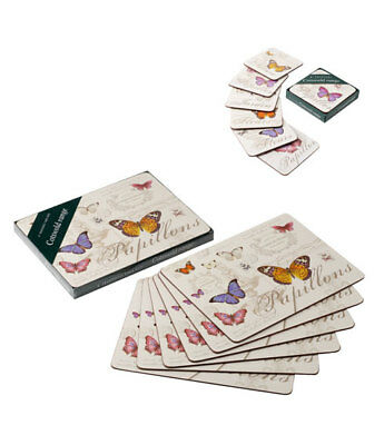 NEW Butterfly Dining Tablemats Drinks Coasters Placemats Set Table Place Mat