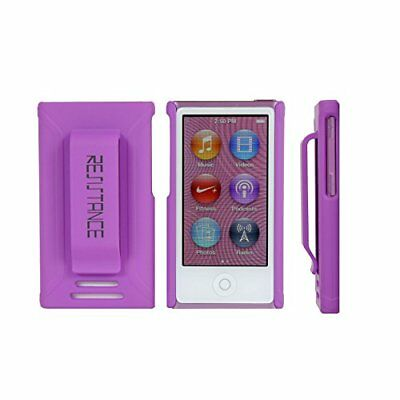 iPod Nano 7 Case,Resistance Shock Absorbing Protective Case, Builtin Clip-Purple