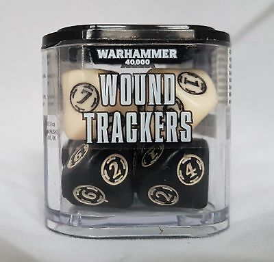 Warhammer 40K - Wound Trackers 8ct - Ivory & Black - Brand New - Free Shipping