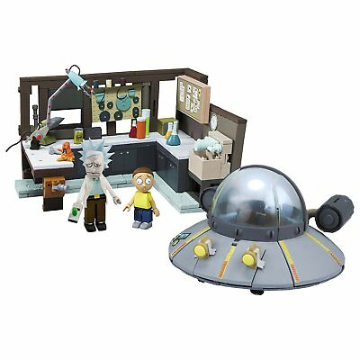 Rick and Morty Spaceship and Garage Interlocking Construction Set