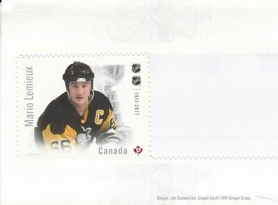 2017 Canadian Hockey Nhl - Canada Post Stamp From Booklet -  Mario Lemieux