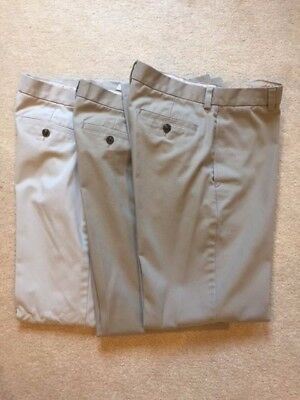 Brooks Brothers Boys Tan Uniform Chino Pants Size 18 - Excellent Condition!