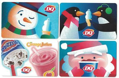DAIRY QUEEN 2017 Christmas Santa / Snowman & Penguins Gift Cards ( 3 )