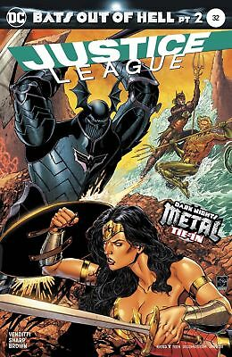 Justice League #32 Main Cover Dark Nights Metal Tie-In Bats Out of Hell Part 2