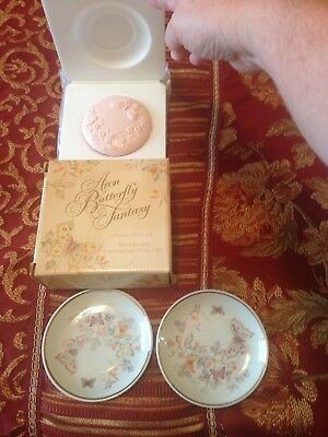 Avon Butterfly Fantasy Porcelain Dishes and Soap Set - 1979